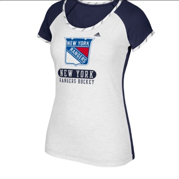 adidas Tops - New York Rangers adidas Authentic Lace T-Shirt